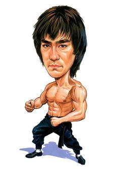 Bruce Lee #Caricature #FunnyFaces.    🌻 For more great pins go to @KaseyBelleFox