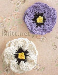 Crochet Flower Motif - Free Crochet Diagram - (knitt)