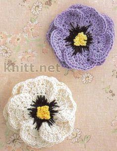 Crochet Flower Motif - Free Crochet Diagram - (knitt)