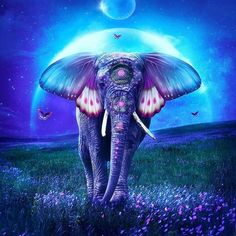 Elephant art - fantasy elephant art fantasy elephant print elephant decor elephant wall art elephant butterfly butterfly wings green and blue flower Elephant Artwork, Elephant Love, Elephant Print, Elephant Meaning, Colorful Elephant, Image Tatoo, Art Papillon, Cartoon Elephant, Elephant Tattoos