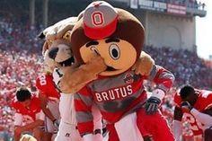 #Ohio University mascot, Rufus decks #OSU's #Brutus