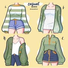 Cute Art Styles, Cartoon Art Styles, Fashion Design Drawings, Fashion Sketches, Kleidung Design, Drawing Anime Clothes, Clothing Sketches, Character Outfits, Anime Outfits