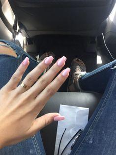 light pink acrylic nails tumblr