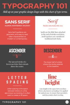 Typography 101. Get to know your type terms! Skill up on your graphic design lingo.