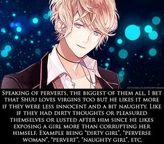 Submit all your dirty thoughts about the Diabolik Lovers characters in the ask box. Don't be afraid,...