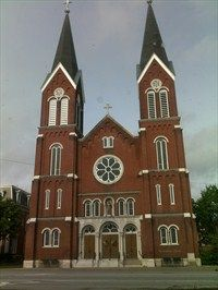 St. Anthony Catholic Church - Evansville, IN....love the twin steeples.
