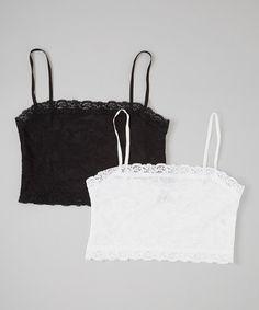 Look at this #zulilyfind! Black & White Camouflage Half-Cami Set - Women & Plus by Pure Style Girlfriends #zulilyfinds