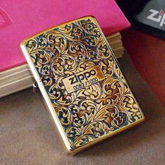 Japanese Smoked Copper Arabesque Zippo Lighter Limited Edition - B