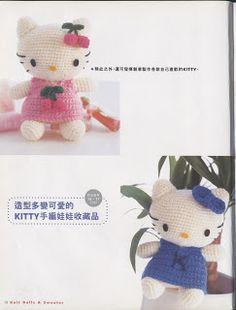 Patrones de crochet gratis: Hello kitty y Daniel amigurumis a crochet