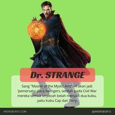 Dr. Strange, sang master of mistyc artist ini akan jadi pemersatu para Avengers: Infinity War. Sumber: Androbuntu.com