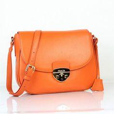 prada handbags orange leather