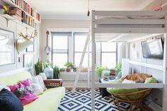 Chicago Studio Apartment With Loft Bed gravityhomeblog.com - instagram - pinterest - bloglovin