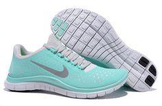 Women's Nike Free 3.0 V4 Running Shoes Green Grey