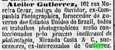 atelie Gutierrez, anúncvio, 1893