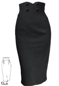 Rockabilly  Wiggle Skirt by Amber Middaugh -- Save 37% on all Chicstar.com clothes  Use Coupon Code: AMBER37