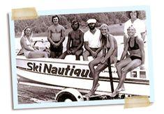 1977:  The manufacturer of the Ski Nautique establishes its first ski team, Team Nautique.