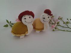 couple de tortue Creations, Crochet Hats, Couple, Amigurumi, Teddy Bear, Knitting Hats, Couples