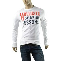 Hollister by Abercrombie Mens Surfers Point Long Sleeve T Shirt