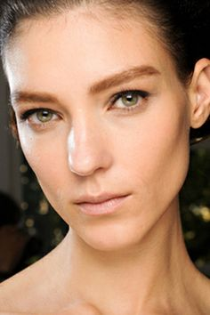 If your brows are already full, remember that the rest of your eye makeup needs to work with them, not against them.