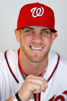Bryce Harper Photos - Bryce Harper of the Washington Nationals poses during photo day at Space Coast Stadium on February 2012 in Viera, Florida. Baseball Boyfriend, Baseball Guys, Baseball Players, Washington Nationals Baseball, Bryce Harper, Call Me Maybe, Mike Trout, Sports Stars, Major League