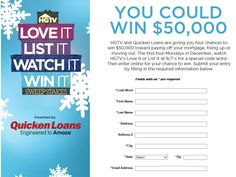 HGTV's Love It, List It, Watch It, Win It Sweepstakes - Code Required