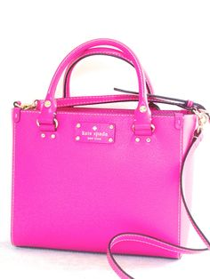 SunnyBeachCouture - Kate Spade Wellesley Small Pink Quinn Leather Tote Bag Handbag, $224.00 (http://www.sunnybeachcouture.com/kate-spade-wellesley-small-pink-quinn-leather-tote-bag-handbag/)