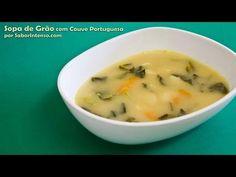 Sopa de Grão com Couve Portuguesa | SaborIntenso.com