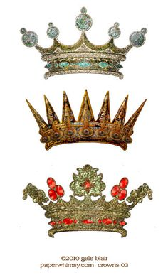 PaperWhimsy::Hybrid Images-Digital Artists::View All::Ornate Crowns 03 PNG