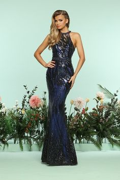 Lovely evening gown design from Zoey Grey.