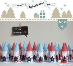 incredibly cute free printable Advent calendar from raumdinge
