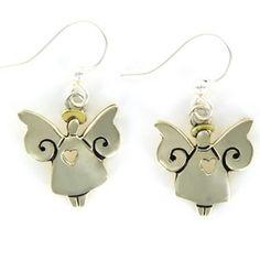 Gratitude Angel Earrings ShoppingBuyFaith.Com