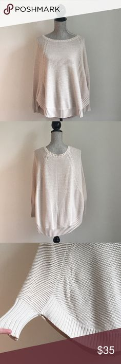 Anthropologie   Sweater Anthropology brand Sparrow poncho sweater in size small. Cream colored in and great condition. Loose knit. This sweater is a poncho style. I did my best to take a picture to show that! If you have any questions, please ask! Very minimal pilling if any at all. Will looks great over skinny jeans on a fall day. Anthropologie Sweaters