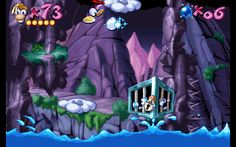 Rayman - Blue Mountains - Mr. Stone's Peaks - Cage 4.gif