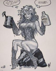 Adam Hughes - Poison Ivy Comic Art