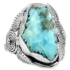 Larimar-Slice-925-Sterling-Silver-Ring-Jewelry-s-8-5-SR111310