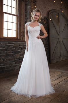 Soft Tulle Ball Gown with Basque Waist