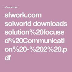 sfwork.com solworld downloads solution%20focused%20Communication%20-%202%20.pdf