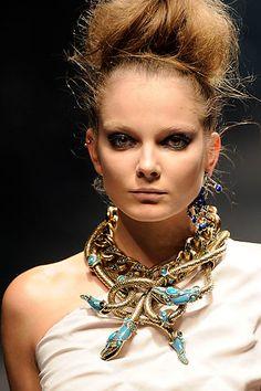 Tribal treasures. Turquoise medusa design. Lanvin does it again!