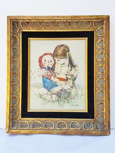 Sandra Kuck Girl With Raggedy Andy In Flower Field by KordGoods