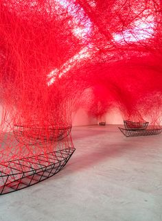 chiharu shiota presents 'uncertain journey', a monumental, site-specific exhibition at berlin's blain|southern from september 17 - november 12, 2016.