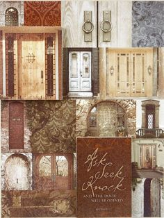 """Verse: Ask, Seek, Knock and the door will be opened. - Matthew 7:7  Double-stacked wood plaque - background art is .5"""" thick foreground art includes a verse block .5""""thick and a door block .5""""thick stacked on the background art."""