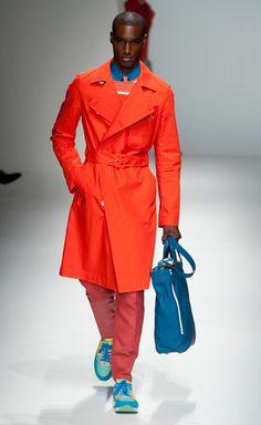 Salvatore Ferragamo - the orange trench. A bold summer punch!