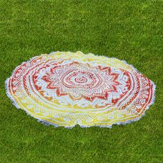 Buy beautiful red and Green beach roundie with handicrunch at reasonable price.