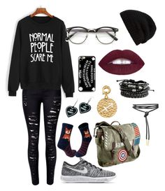 Messy #1 by newaland on Polyvore featuring polyvore, fashion, style, WithChic, NIKE, Marvel, nikki lissoni, Witch Worldwide, Rick Owens, Casetify, ZeroUV and clothing