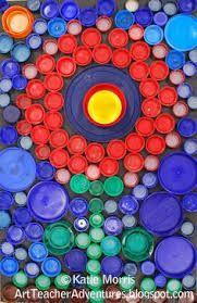 Resultado de imagen para Reciclaje de tapas de botellas de plástico (Rostro de Jesús) - bottle caps