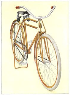 Antique Images: gold bicycle, 1913 catalog illustration