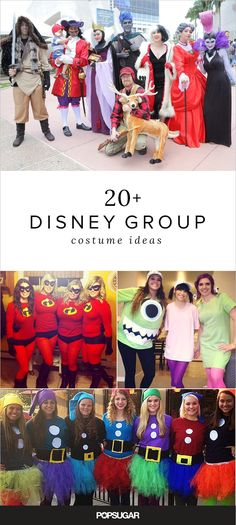 If your friends love Disney, try one of these group costumes for Halloween.