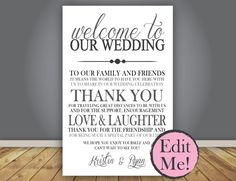 EDITABLE Thank You Note Wedding Program add by SimpleandStunning2, $8.00