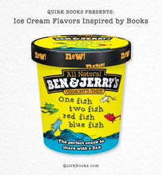 Ice Cream Flavors Inspired by Books. One Fish, Two Fish, Red Fish, Blue Fish. Red Fish Blue Fish, One Fish Two Fish, Ben Et Jerrys, Fish Candy, National Ice Cream Month, Weird Food, Ice Cream Flavors, Keep Cool, Ben And Jerrys Ice Cream