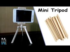 Diy Projects With Popsicle Sticks, Popsicle Crafts, Craft Stick Crafts, Diy Crafts Hacks, Diy Crafts For Gifts, Diy Home Crafts, Diy Tripod, Diy Phone Stand, Ice Cream Stick Craft